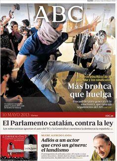 Los Titulares y Portadas de Noticias Destacadas Españolas del 10 de Mayo de 2013 del Diario ABC ¿Que le parecio esta Portada de este Diario Español?