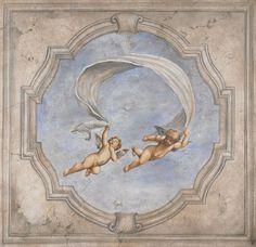 Extra Large Italian Canvas Art Renaissance Mural by bonnielecat
