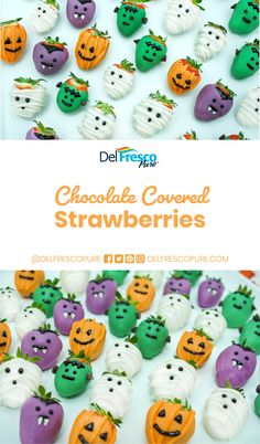 Keep a good balance between healthy and fun this Halloween with these Chocolate Covered YESBerries! The kiddos are guaranteed to love this spooky treat! Halloween Baking, Halloween Food For Party, Halloween Desserts, Halloween Birthday, Halloween Treats, Strawberry Halloween, Strawberry Dip, Strawberry Desserts, Chocolate Truffles