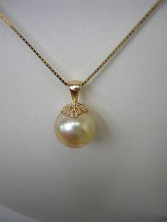 Huge Gem in14kt Gold Sale!! SALE  Golden South Sea Pearl 1254mm Large by RLGemstoneElegance, $650.00