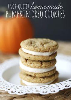 My Sister's Suitcase: Easiest Pumpkin Oreo Cookies