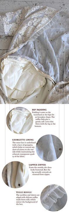Construction details: 1940s wedding dress | Coletterie