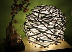 DIY} How To Make A Bird's Nest Lamp Shade Out of Newspaper