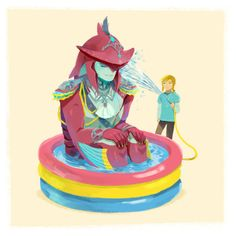 Prince Sidon and Link.. I don't know what it is but it's cute