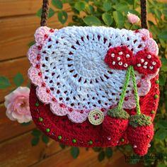 Crochet Handbags, Crochet Purses, Mode Crochet, Knit Crochet, Double Crochet, Single Crochet, Crochet Crafts, Crochet Projects, Crochet Designs