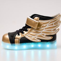Amazon.com | DoGeek Light Up Shoes Led Angel Wings Shoes Children Shining Shoes Boy Girl Tennis Led Trainers | Sneakers