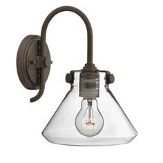 """Congress 13 1/2""""H Clear Glass Oil Rubbed Bronze Wall Sconce - #2X515 