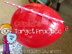 Creating Readers and Writers: Holiday Science: Cupid's Target Practice  #valentinesday  #valentinescience