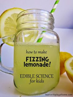 How to make Fizzing Lemonade! Edible Science For Kids! A fun and delicious activity to do with your children.