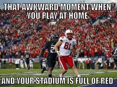 Last year at Northwestern...and we where there! Go Huskers!!