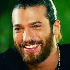 Growing Out Medium Length Hairstyle For Men Turkish Men, Turkish Actors, Beautiful Men Faces, Gorgeous Men, Beautiful Soul, Great Smiles, Beard Lover, Male Face, Bearded Men