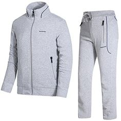 f8b1803fbf1 Discounted DUNKINBO Men s Athletic Tracksuit Full Zip Warm Jogging Sweat  Suits  DUNKINBOMen sAthleticTracksuitFullZipWarmJoggingSweatSuits