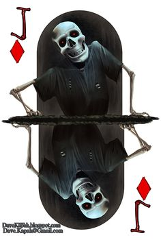 Playing Cards by David Kapah: The Jack of Diamonds   more here: http://playingcardcollector.net/2015/06/18/playing-cards-by-david-kapah/