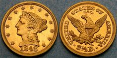 1848 Gold Eagle will enhance any collection!