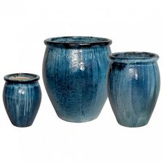 "OUR #1 BEST-SELLING PLANTER, featured in Southern Living Magazine. This gorgeous and substantial indoor/outdoor planter is made of high-quality ceramic with a rich, blue artisan glaze. Showcase one or a pair on your patio, pool area or garden, planted with bright annuals or small trees. Large measures 25"" W x 30"" H Also available in Medium 19"" W x 27"" H Also available in Small 14"" W x 19"" H High-Quality Ceramic Due to nature of this product colors and glaze effects may vary For Indoor and…"
