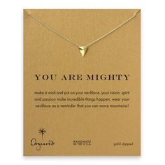 you are mighty pyramid necklace, gold dipped - Dogeared