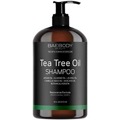 Baebody Tea Tree Oil Shampoo - Helps Fight Dandruff, Dry Hair and Itchy Scalp. For Men and Women. Dread Shampoo, Shampoo For Dry Scalp, Shampoo For Curly Hair, Itchy Scalp, Natural Shampoo, Dry Hair, Best Shampoo For Dandruff, Oily Scalp, Tea Tree Oil Shampoo