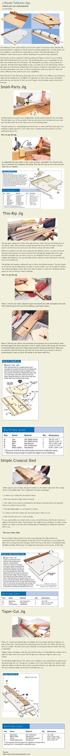 4 Handy Tablesaw Jigs