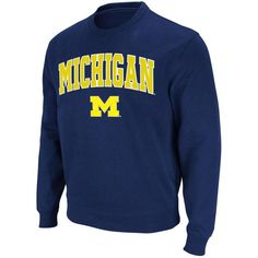 Fanatics.com - Stadium Athletic Michigan Wolverines Stadium Athletic Arch & Logo Crew Pullover Sweatshirt - Navy - AdoreWe.com