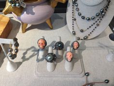 Some of the killer Samira 13 rings! Pearl Necklace, Pearls, My Style, Rings, Jewelry, Fashion, Jewlery, Moda, Jewels