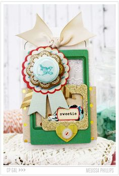 Sweetie - Crate Paper: Styleboard - by Melissa Phillips, CP Gal.  Glitter and Stripes challenge.