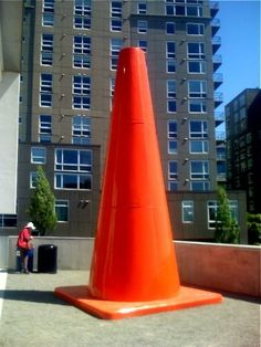 giant traffic cone, Seattle