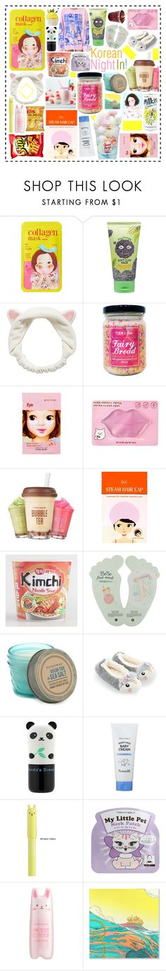 """""""Korean staycation"""" by beanpod ❤ liked on Polyvore featuring Forever 21, Etude House, Paddywax, Classified, Tony Moly and Pig, Chicken & Cow"""