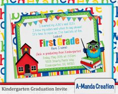 Kindergarten Graduation Invitation Perfect For Celebrating Your Little Ones From As They Move