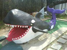 Whale at Peter Pan Mini Golf, Barton Springs Road Austin, TX  Sculptor: Cheryl D Latimer