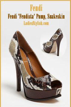 Fendi - $584.98 - Fendi 'Fendista' Pump, Snakeskin... http://ladiesstylish.com/go/designers/Fendi/Shoes.html #LadiesStylish #Designers #Shoes
