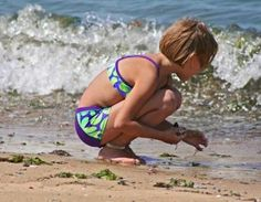 Beach-themed crafts and activities -Colored sand holder, I spy, Magnetic shells,