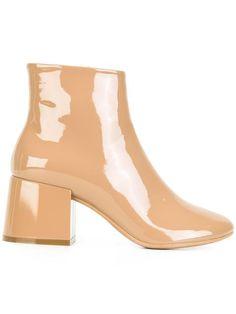 98037431686d0 Mm6 Maison Margiela Shiny Ankle Boots - Farfetch
