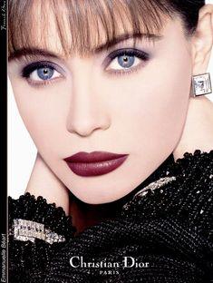 Emmanuelle Béart V Dior Beauty, Beauty Makeup, Fashion Beauty, Hair Makeup, Makeup Geek, Makeup Vintage, Vintage Beauty, Vintage Dior, Vintage Fashion