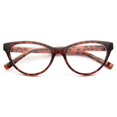 Clear Cat Eye Glasses | Olivia Solid Frame Clear Cat Eye Glasses | BleuDame.com