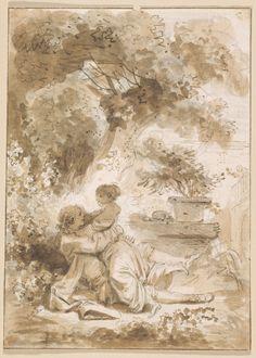 Jean-Honoré Fragonard, La Servante justifiée, illustration des Contes, Petit Palais / Roger-Viollet