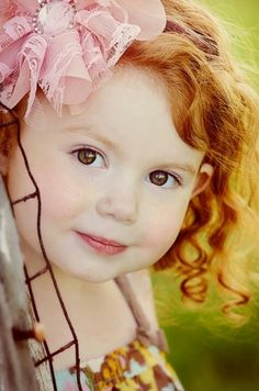 Brown eyes and red hair so pretty. I'm a sucker for red hair. Precious Children, Beautiful Children, Beautiful Babies, Cute Kids, Cute Babies, Jolie Photo, Little People, Children Photography, Sweets Photography