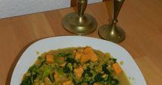 VegetarischVegan: Linsen Dal (Süßkartoffel und Spinat)