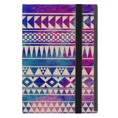 Vibrant geometric decorative trendy aztec andes abstract tribal pattern design with multiple bright colours pink, purple, blue, turquoise and teal. This pretty, trendy and girly design features multiple geometric shapes like triangles, diamonds, rectangles and stripes and beautiful stunning bright vibrant pink, purple, teal, turquoise and blue colors and a fashionable tie-dye background. Girly, cool and trendy protection for your electronics and a perfect gift for Her.
