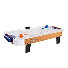 Rally and Roar Tabletop Air Hockey Table, Travel-Size, Lightweight, Plug-in - Family Game Night, Family Games, Air Hockey Games, Entertainment Table, The Ultimate Gift, Pub Crawl, Indoor Games, Mini Games, Table Games