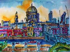 Buy St Pauls Cathedral and River Thames View London, Watercolours by Ann Marie Whitton on Artfinder. Discover thousands of other original paintings, prints, sculptures and photography from independent artists.