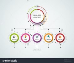 Vector Infographic Template With 3d Paper Label, Integrated Circles. Business Concept With Options. For Content, Diagram, Flowchart, Steps, Parts, Timeline Infographics, Workflow Layout, Chart - 520224424 : Shutterstock