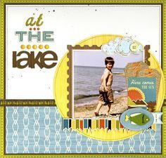 at the lake scrapbook page