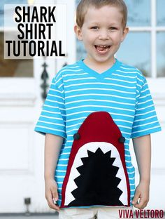 So fun for a shark birthday party or shark week! Check out this DIY Shark T Shirt tutorial!