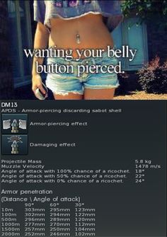 making fun of justgirlythings Funny Tanks, War Thunder, Video Game Memes, Justgirlythings, Belly Button Piercing, All The Things Meme, World Of Tanks, Tank Girl, Gaming Memes