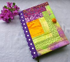 Oh so lovely! Journal Fabric Covered  / Diary / Notebook/ by choosingcharm7, $25.00