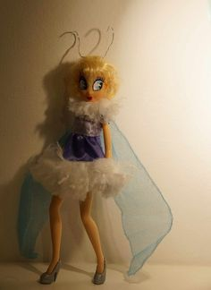 Walt Disney Moth and Flame, Silly Symhonies OOAK Barbie doll repaint, Hair restyled, Outfit altered. Made by Lulemee.