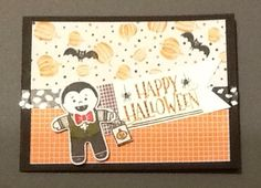 New Halloween Treat stamp and Cookie Cutter Halloween from Stampin Up!  These two sets are so fun and versatile! Also, new designer series paper and coordinating washi tape!