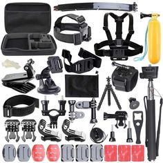 (39.99$)  Watch here - http://aiiy9.worlditems.win/all/product.php?id=32715278839 - Practical Portable 50In1 Sports Photography Set Kit Tools 50 Different Accessories for GOPRO accessories set