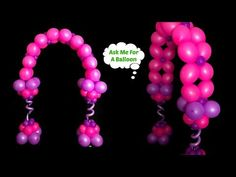 How to make a double link balloon arch without helium. You will need Link-O-Loon balloons for this decoration DIY! Sempertex neon balloons glow under black l. Balloon Glow, Balloons, Ballon Arch, Hobbies And Crafts, Wedding Centerpieces, Projects To Try, Baby Shower, How To Make, Youtube