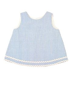 RuffleButts Infant  Toddler Girls Striped Seersucker Swing Top  BlueWhite  612m * You can find more details by visiting the image link. (This is an affiliate link) #BabyGirlTops